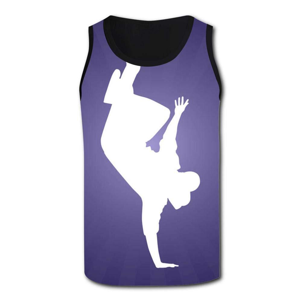 Gjghsj2 Breakdancer Mens Tank Top Vest Shirts Singlet T Shirt Sleeveless Underwaist for Basketball