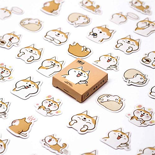 - B Top Sale Sticker 40 Pcs/Pack Akita Dog Cute Diary Flower Stickers Stationery Sticker Childent Supplies Paper Sticker (3)
