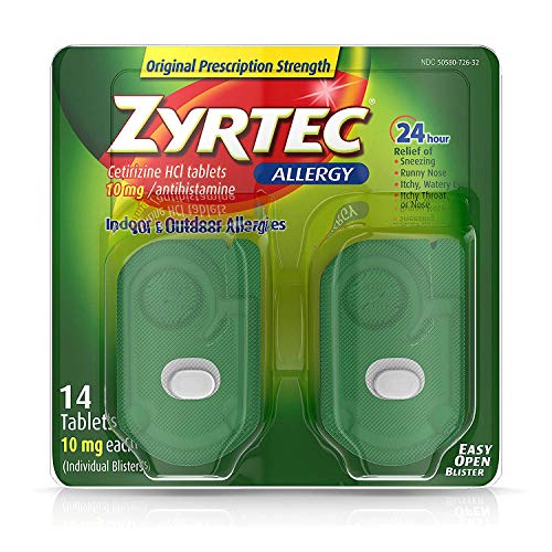 Zyrtec Allergy, Original Prescription Strength, 10 for sale  Delivered anywhere in Canada