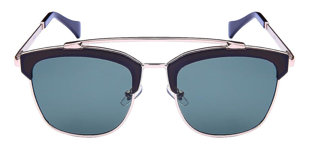 Edge I-Wear Square Aviator Style Sunglasses with Solid Flat Lens 541063-FLSD