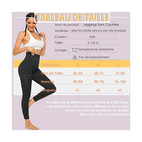 INSTINNCT Legging Sport Femme Sexy Pantalon Yoga Confortable Elastique Taille Haute Collant Basique Amincissant