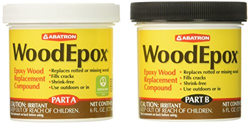 - Abatron WoodEpox Epoxy Wood Replacement Compound, 12 oz Kit, Part A & B
