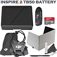 DJI Inspire 2 TB50 Intelligent Flight Battery Bundle: Includes TB50 4820mAh Battery, Remote Monitor Hood (Tablet), Remote Controller Strap, 64GB MicroSD Card, eDigitalUSA Stylus Pen & more...