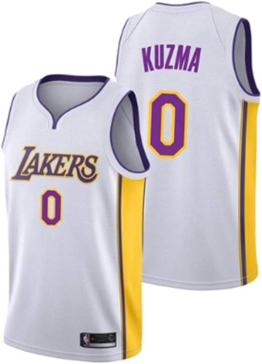 Hanbao Uomo NBA Lakers 0# Kuzma Maglia da Basket