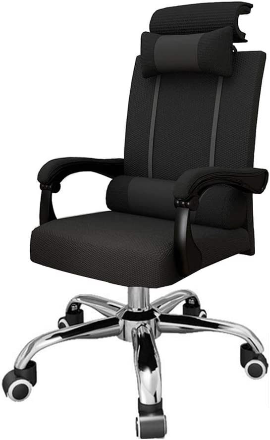 Haobase Office Chair, 90°-155° Adjustable Desk Chair Reclining Computer Chair with Headrest and Lumbar Support- Black