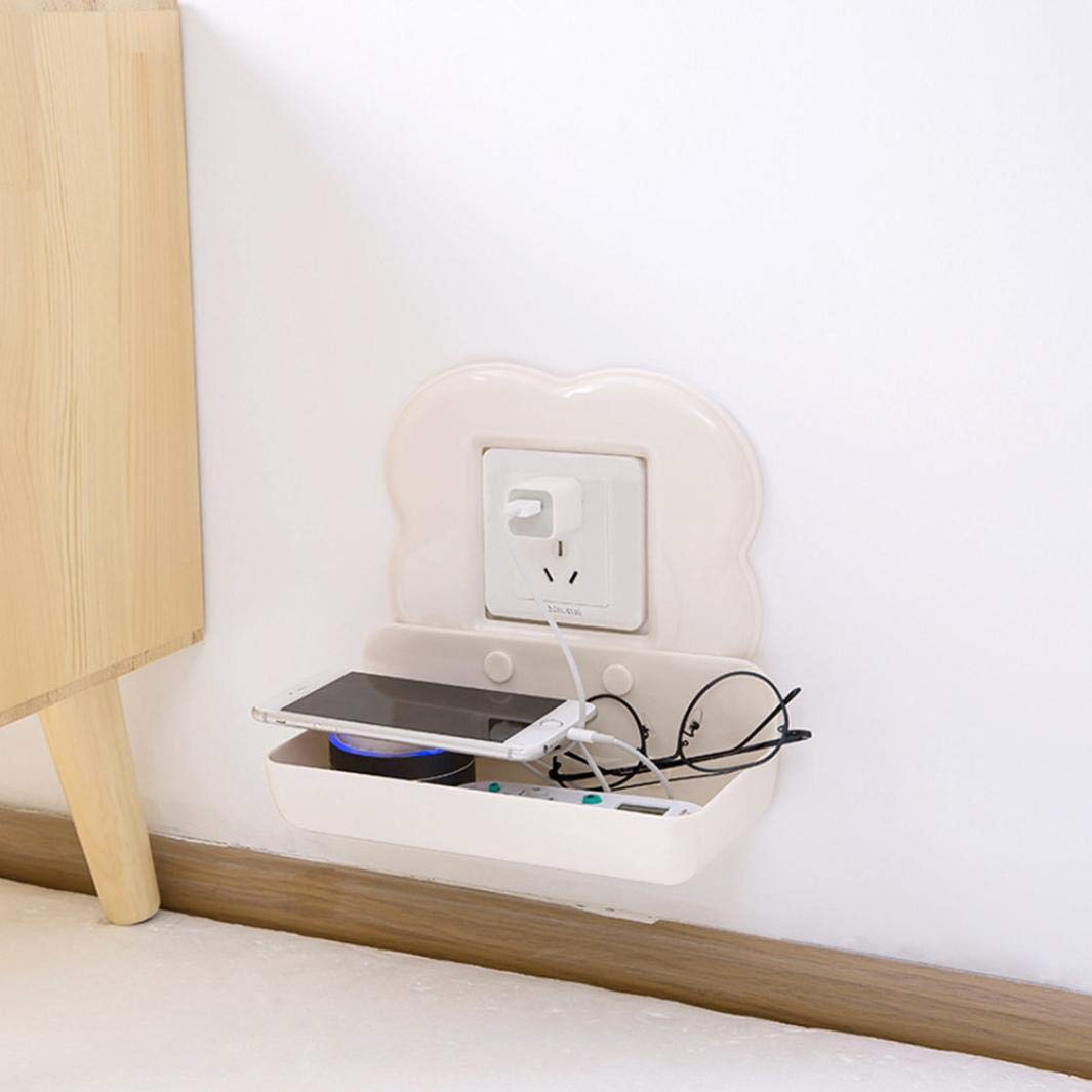 Amazon.com: Ikevan Wall Hanging Remote Controller Mobile Phone Bracket Storage Box No Hole Switch D (Beige): Cell Phones & Accessories