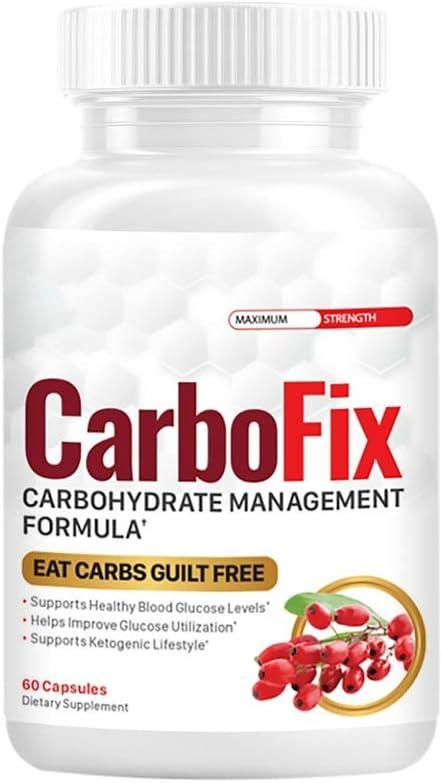 Carbofix - Carbofix Weight Management Supplement - Carbofix Weight Management Pills (60 Pills - 1 Month Supply)