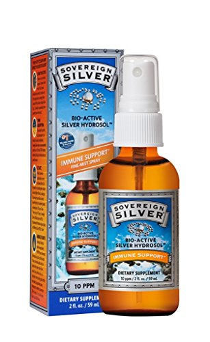 Sovereign Silver Bio-Active Silver Hydrosol for Immune Support - 10 ppm 2oz (59mL) - Fine Mist Spray