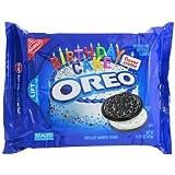 Nabisco Oreo Birthday Cake Flavor Creme Chocolate Sandwich Cookies, 15.25 oz
