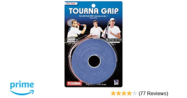 Amazon.com : Tourna Grip Original Dry Feel Tennis Grip (10/Roll Pack) : Tennis Racket Grips : Sports & Outdoors