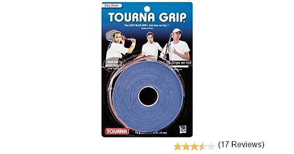 TOURNA Grip - Overgrip de Tenis (Pack de 10 Grips), Azul, L: Amazon.es: Deportes y aire libre