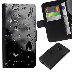 KingStore / Leather Etui en cuir / HTC One M9 / Sombre espoir fenêtre Sad