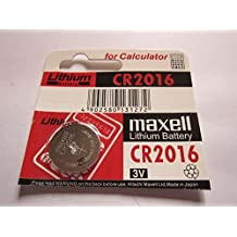 1x MAXELL CR2016 CR 2016 - 3V Lithium Button Cell Battery Batteries - NEW
