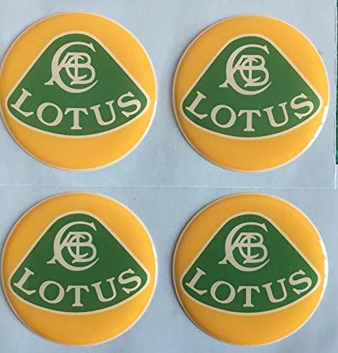 45mm SCOOBY DESIGNS CATERHAM SUPER 7 ALLOY WHEEL CENTRE CAP STICKERS DOMED RESIN X4 GREEN YELLOW