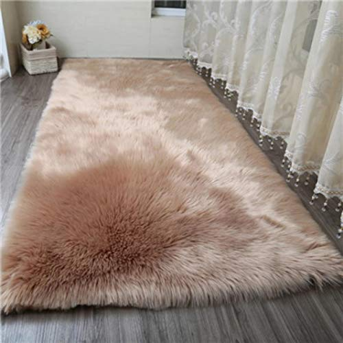 Living Room Fluffy Carpet Faux Fur Sheepskin Area Rug Kids Room Crawl Mat Seat Pad for Bedroom Washable Rug from Waterp