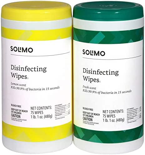 Multi-Surface Wipes: Solimo Disinfecting Wipes