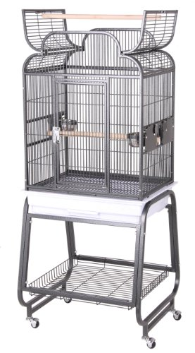 BirdsComfort HQ Open Small Bird Cage With Cart Stand 22x17 -