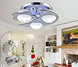 Onfly Flush Mount Crystal Ceiling Lamp,round Hardware + Glass Chandelier Ambient Light,star+moon,7 Color Led Dimmable With Remote Control,110-120V 220-240V,without Bulb