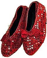 Forum Novelties Child Sequin Shoe Covers, Red