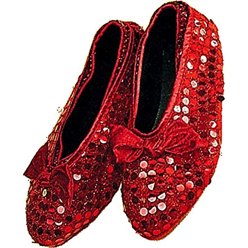 Best 1980's Costumes (Forum Novelties Child Sequin Shoe Covers, Red)