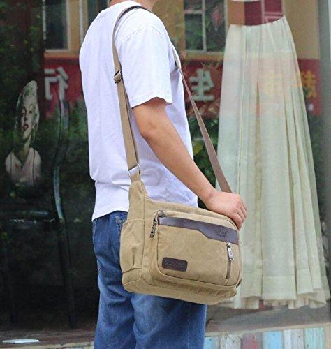 Männer Casual Leinwand Umhängetasche Messenger Tasche Mit Großer Kapazität Reisetasche