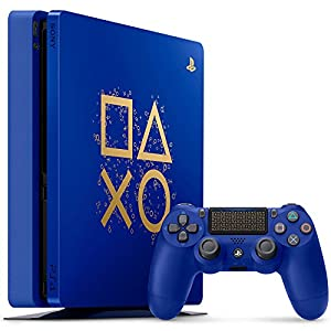 51VSeh0Rb L. SS300  - PlayStation 4 Slim 1TB Limited Edition Console - Days of Play Bundle [Discontinued]