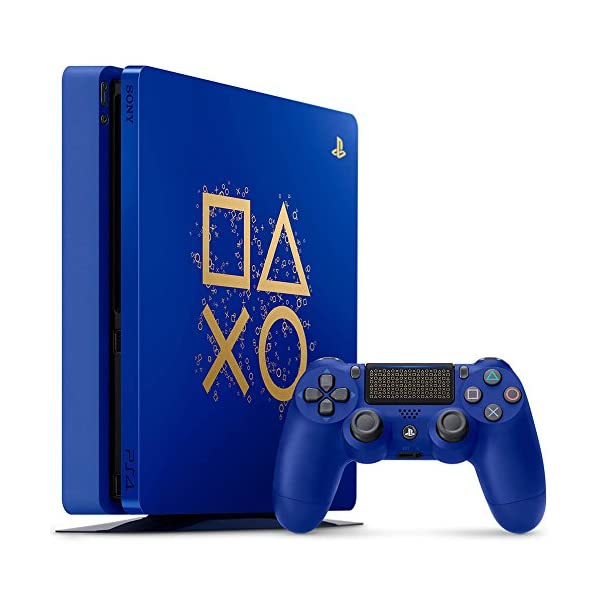 51VSeh0Rb L. SS600  - PlayStation 4 Slim 1TB Limited Edition Console - Days of Play Bundle [Discontinued]