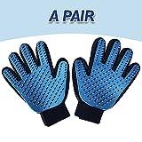 Pet Grooming Glove, Magic Glove - Dog Brushing mits - Massageh Hair - Remover Glove (A Pair)