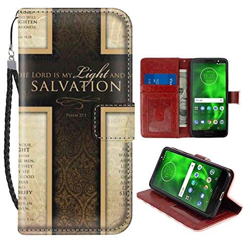 Expert choice for motorola g6 case wallet with cross