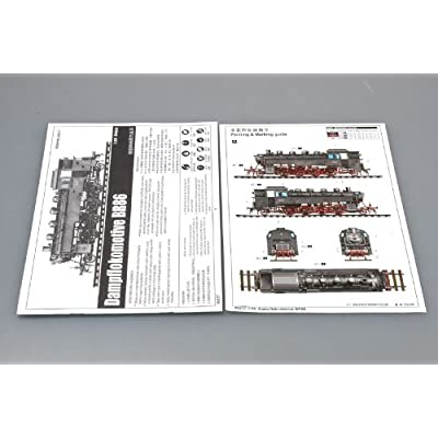 Trumpeter 1/35 WWII German BR86 Armored Steam Locomotive: Toys & Games