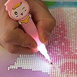 Demiawaking DIY Diamond Drill Pen with LED Light Diamond Painting Tools Quick Point Stylus Pen Cross Stitch Embroidery Kits (Single Point)
