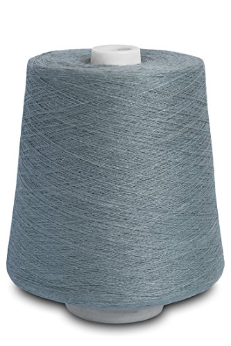 (Linen Yarn Cone - 100% Flax Linen - 1 LBS - Bluish Gray Color - 3 PLY - Sewing Weaving Crochet Embroidery - 3.000 Yard)