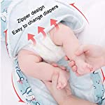 Lekebaby-Baby-Swaddles-Unisex-Swaddle-Wraps-with-Zipper-for-Baby-3-6-Months-100-Cotton-Pack-of-2