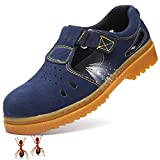 Safety Shoes for Women Men Steel Toe Unisex Non-slip Working Shoes Industry Security Shoe (37/6 B(M) US Women / 4.5 D(M) US Men, Blue)