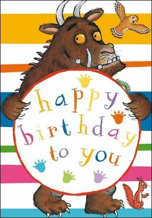 Amazon Com The Gruffalo Birthday Card Gruffalo Colourful