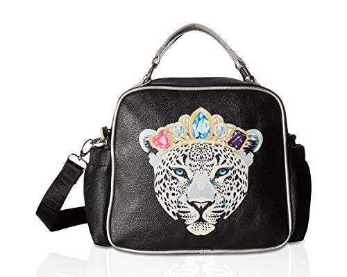 Betsey Johnson Women's Snow Queen of the Jungle Lunch Tote Black Multi One Size (Betsey Johnson Totes Black)