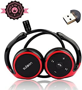 Ax610 Black + Red Lightweight Wireless Sports/running & Gym/exercise Bluetooth Earbuds Headphones Headsets W/microphone for Iphone 5s 5c 4s 4, Ipad 2 3 4 New Ipad, Ipod, Android, Samsung Galaxy, Smart Phones Bluetooth Devices-in