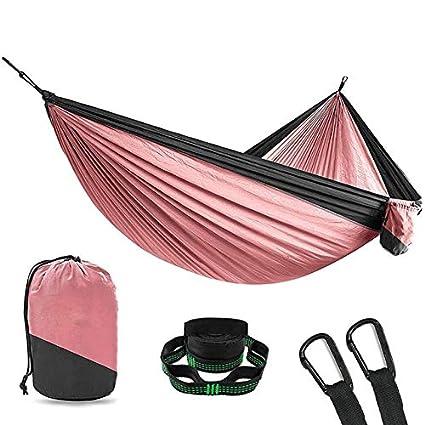 Amazoncom Pink 2 Person Double Camping Ultralight Hammock Tree