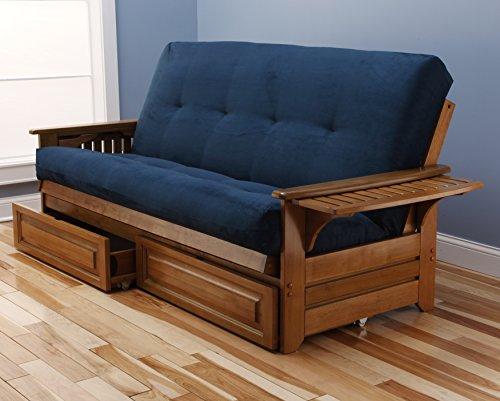 (Kodiak Furniture KF Phoenix Futon, Full Size, Suede Navy)