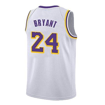 4b0b6cfcc SPORTSBOYBasketball Jersey Lakers New Season Vintage White BRYANT ...