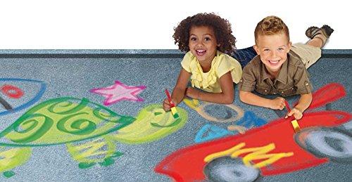 RoseArt Washable Sidewalk Paint 3 Colors 2 Foam Brushes DDL87 Mattel