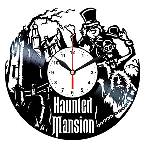 Haunted Mansion Clock - Disney Haunted Mansion Clock - Vinyl Record Wall Decor - Best Birthday Gifts Ideas