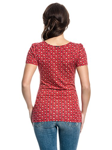 Vive Maria French Fleur Shirt Rot Allover-Print