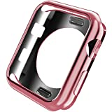 Kortusa Apple Watch Case 42mm Advanced TPU iWatch Bumper Case Protector Ultra Thin and Light Protective Bumper Cover for Apple Watch Series 2 Series 3 (2017) Rose Gold