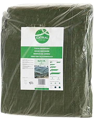 Toldo reforzado gramaje 120 grs, 3 x 5 m, color verde - Catral 560103