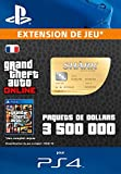 Grand Theft Auto Online | GTA V Whale Shark Cash Card | 3,500,000 GTA-Dollars | Code Jeu PS4 - Compte français