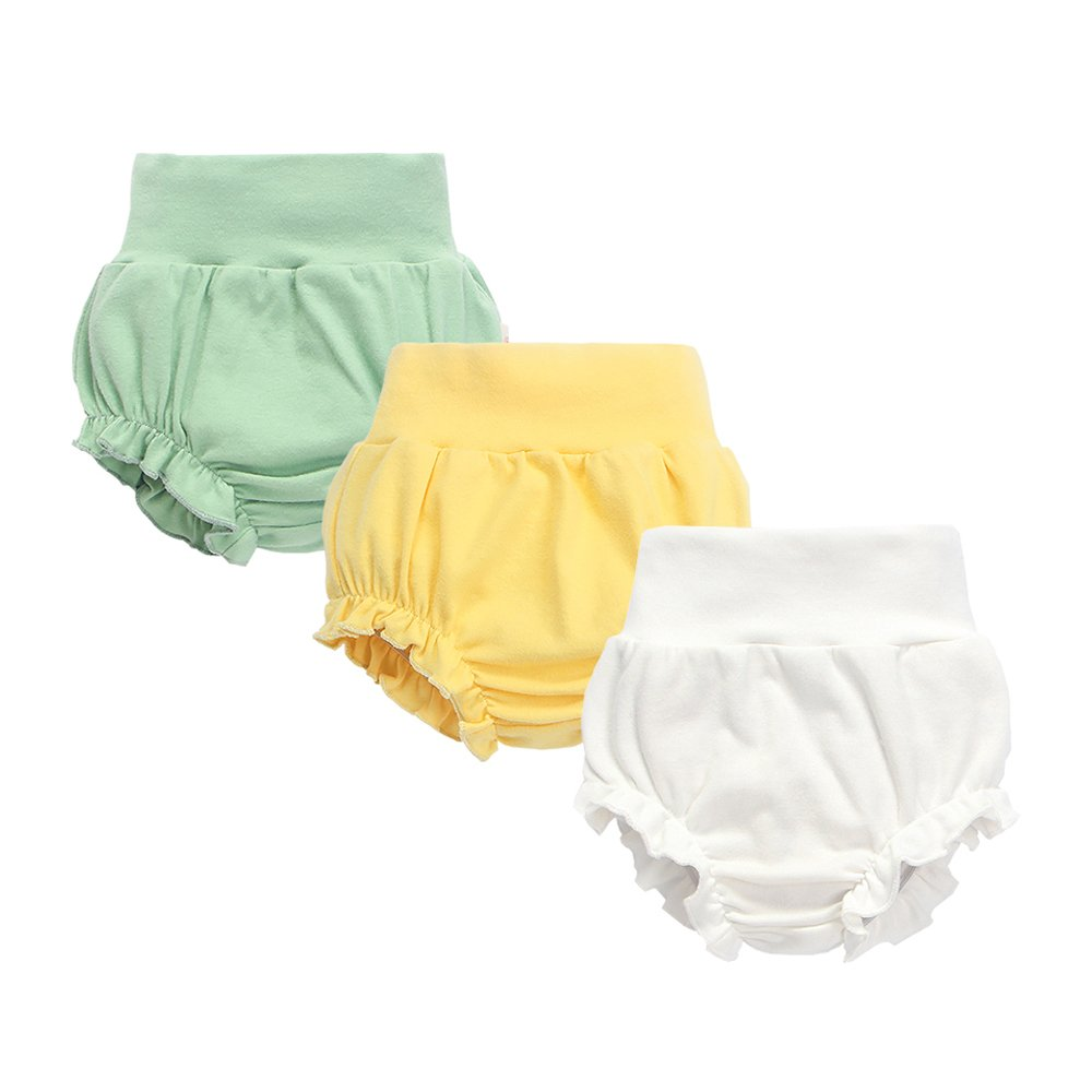 mikistory Baby Shorts Diaper Cover Newborn Cloth Diaper Cover 3-Pack