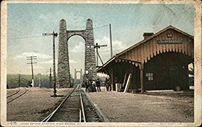 High Bridge Station High Bridge, Kentucky Original Vintage Postcard