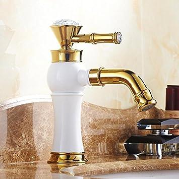 Makej Europaische Kuche Badezimmer Armaturen Messing Wasserhahn Weiss
