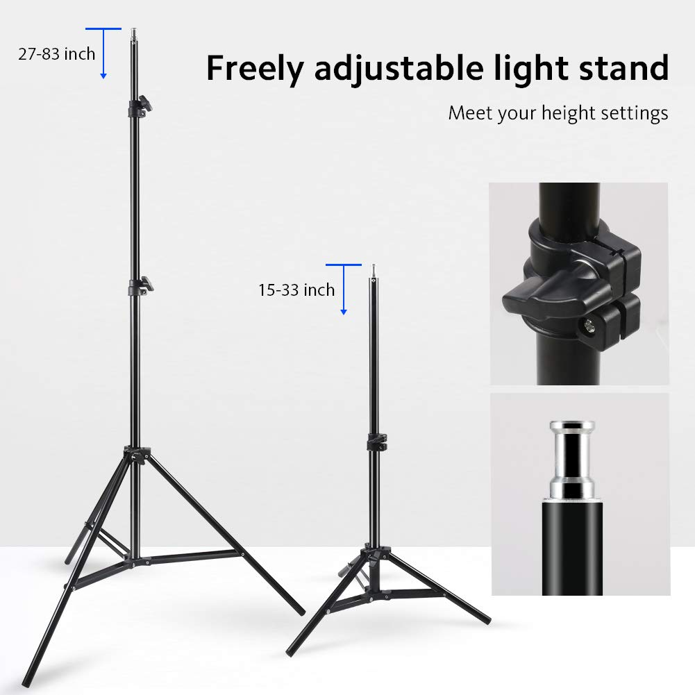 Photography Umbrella Lighting Kit, 600W 5500K Day Light Continuous Studio Lights Equipment for Portrait Video Studio Shooting by RALENO by RaLeno (Image #2)